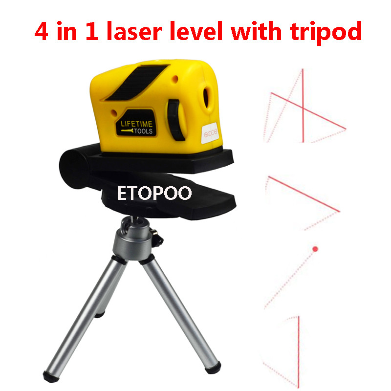 4 в 1 инфракрасный лазерный уровень перекрестная линия лазер с магнитом Многофункциональный ручной инструмент лазерный инструмент - Цвет: with tripod