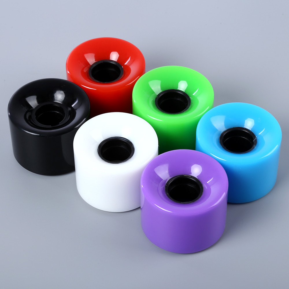 4pcs 60 X 45mm Solid Color Skateboard Wheels PU Longboard Wheels 60 X 45mm Standard Cruiser Wheel Size