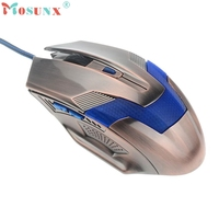 Beautiful Gift 100% Brand New Luxury 2000DPI Optical Adjustable Wired Gaming Mouse For Laptop PC Wholesale price Jan08