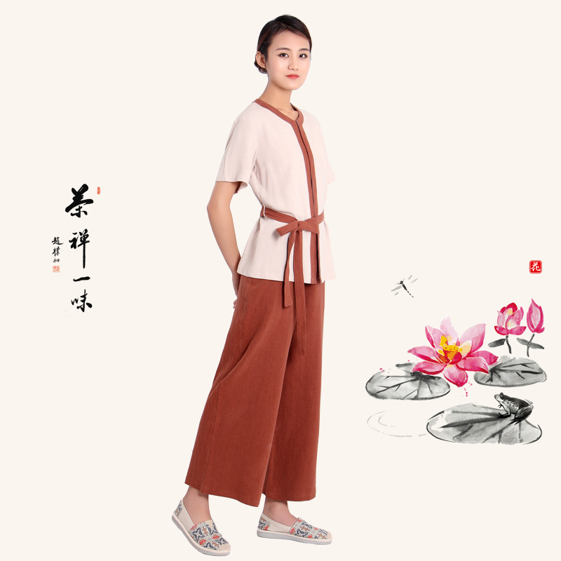 La méditation zen shaolin hanfu chinois traditionnel vêtements pour costume de moine bouddhiste vêtements moine robe taoïsme tibétain vêtements