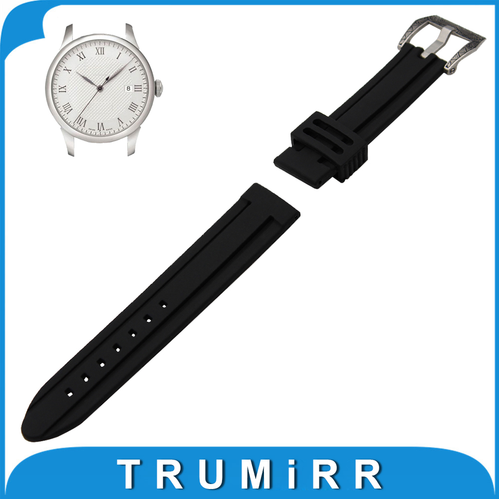 21mm 22mm 23mm 24mm Silicone Rubber Watch Band for Tissot 1853 T035 Stainless Steel Carved Pre-v Buckle Strap Wrist Bracelet 23mm 24mm silicone rubber watch band for tissot 1853 t035 t087 men stainless steel carved pattern buckle strap wrist bracelet