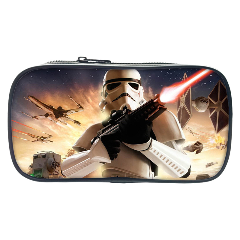 2017 New Star Wars Pencil Study Case 3D Printing Box For Children School Kids Study Bags Cool Make Up Bag For Gift Wallet