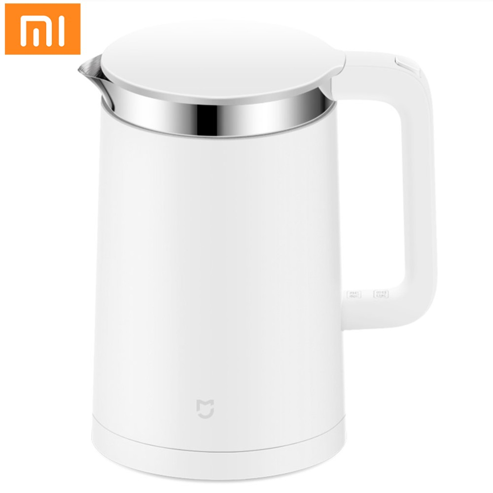 Mijia 1.5L Smart Electric Kettle Fast Boiling Stainless Steel Inner Insulation Kettle with Smart Constant Temperature Control thermostat temperature control kettle top base set socket electric kettle parts