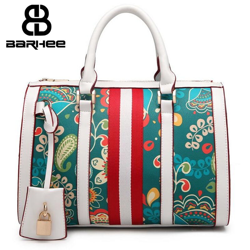 New List Flower Print Luxury Women Handbag Boston Tote Office Ladies Top-handle Bag Famous Brand Design Women Messenger Bag цены