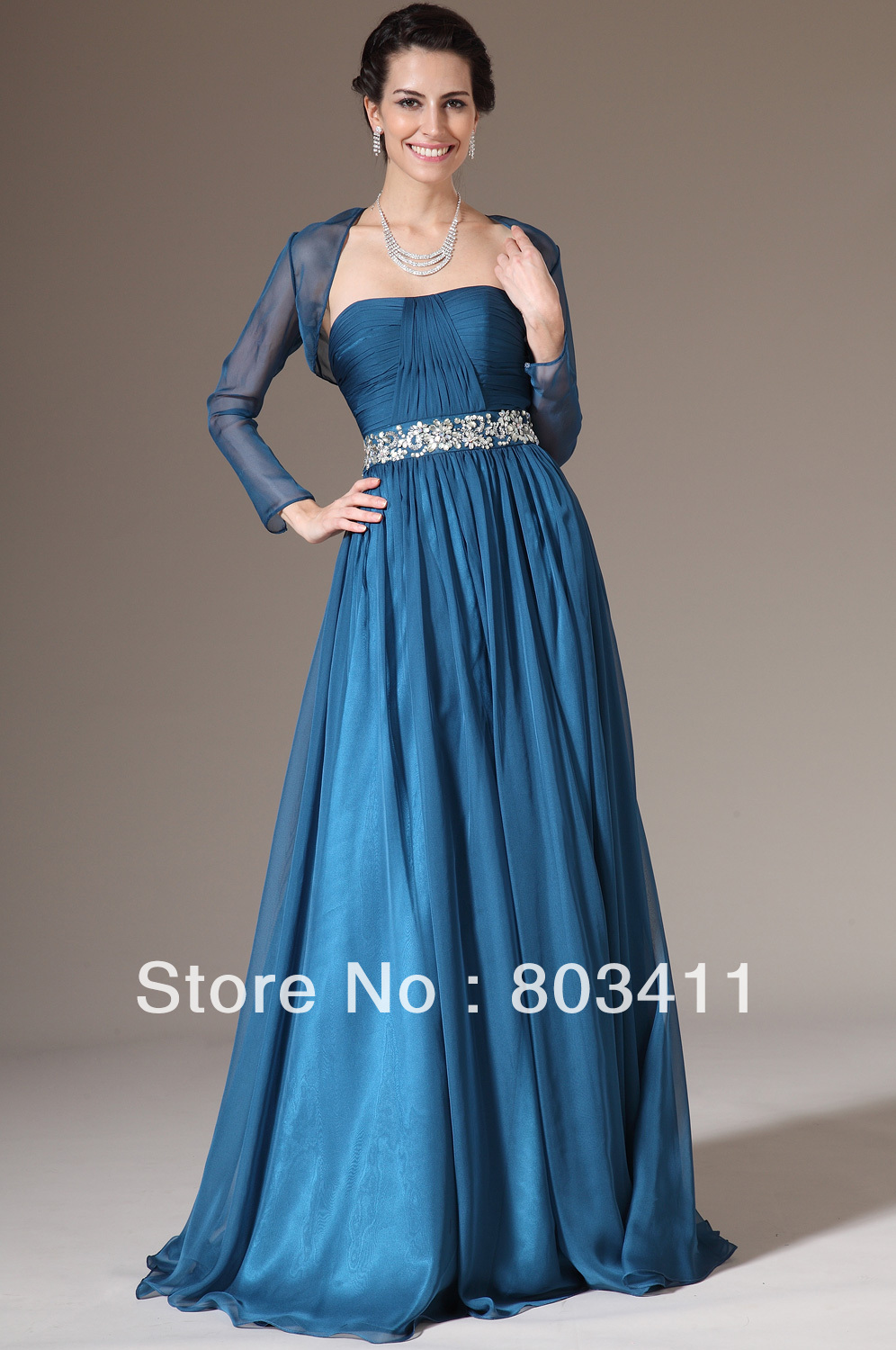 New Two Pieces A Line Evening Gown Bolero Dress Mother Of The Bride ...