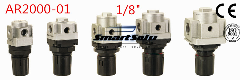 Free Shipping Pneumatic Mini Air Pressure Regulator AR2000-01 Thread 1/8 Inch BSP,  Type Air Treatment Units ,1/8 Port Size 13mm male thread pressure relief valve for air compressor