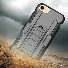 Heavy Duty Rugged Hybrid Armor Case Impact Protective Hard Holster Stand With Belt Clip Phone Cover For iPhone 7/7 Plus