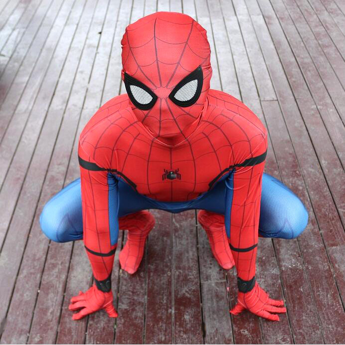 Marvel Legends Spiderman Homecoming Suit 2099 Adult Spiderman Costume Kids Child Spider Man Mask Birthday Party Cosplay Clothing цены онлайн