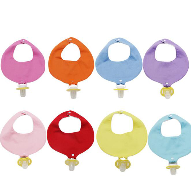 Multi-function Cotton Baby Bibs With Pacifier Holder Unique Triangle Cotton Breathable Towel Baby Bib Childrens Accessories
