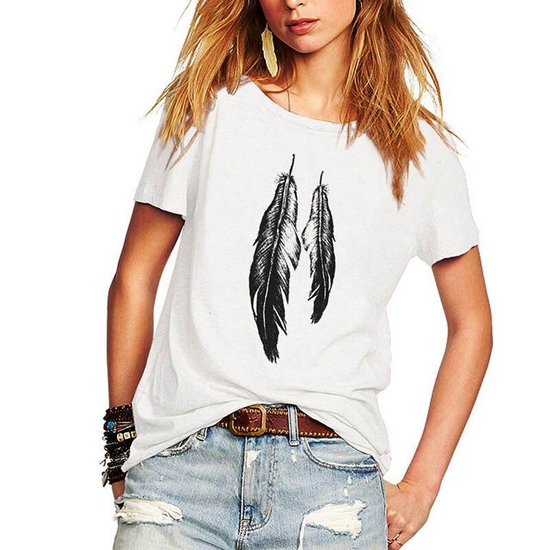 2018 жазғы punk t shirt әйелдер қысқа жең - Әйелдер киімі - фото 1