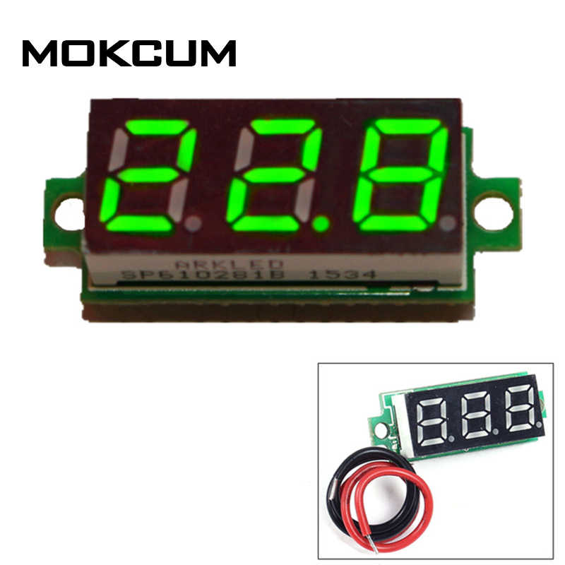 "DC 4-28V 0.28"" digital thermometGreen Digital Thermometer NTC Metal Waterproof Probe Temperature Detector Thermometer Controller"
