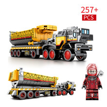 257pcs New Building Block Bricks Toys Compatible With Legoingly Technic Engineering Series Earth Bucket Carrier Figures Gifts movie series hogwarts express train set diy building block toys bricks compatible with legoingly gifts for children