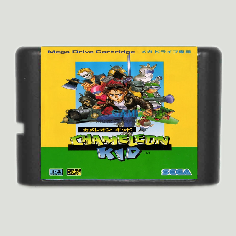 Kid Chameleon Game Cartridge Newest 16 bit Game Card For Sega Mega Drive / Genesis System