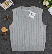 Свитера для мальчиков на весну и осень пуловер с v образным