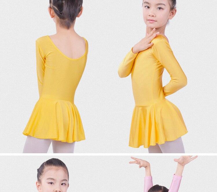 Pikkade varrukatega baleriinikleit tüdrukutele
