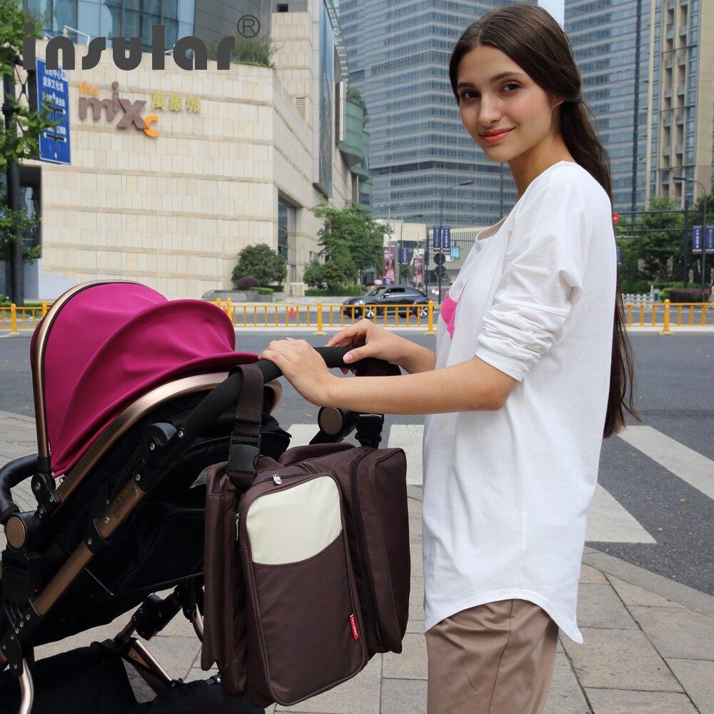 Ny ankomst 2 i 1 Multifunktionell resa Babyblöja väska Fäll - Blöjor och potträning - Foto 6