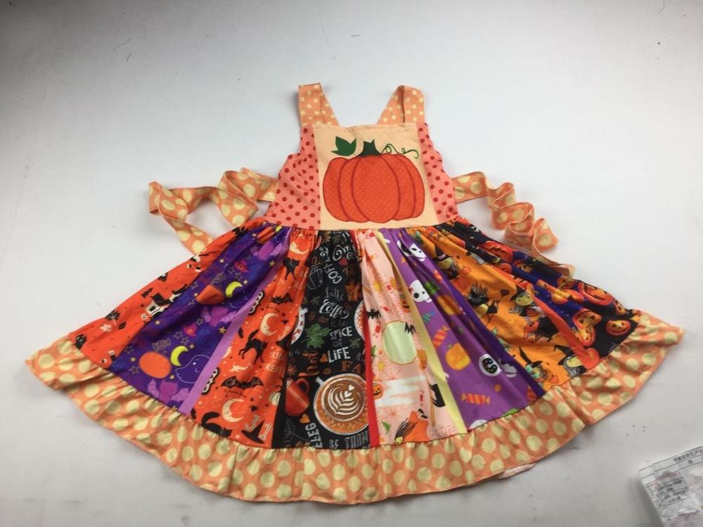 Latest yellow dress kids girl favor children halloween dresses(China)