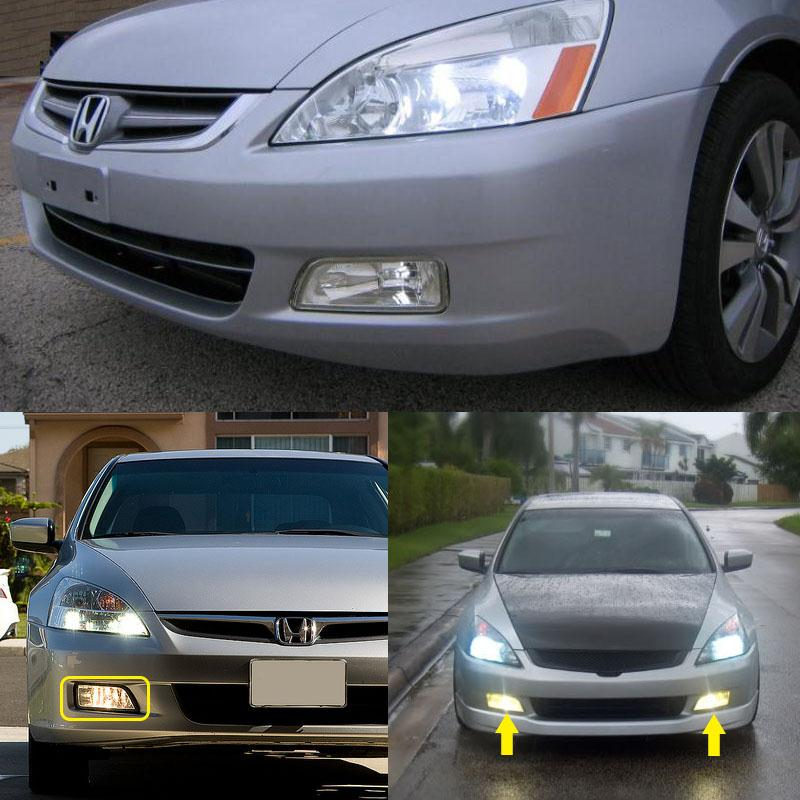 For Honda Accord 2003-2007 4DR JDM Bumper with Front grille Clear Fog Light