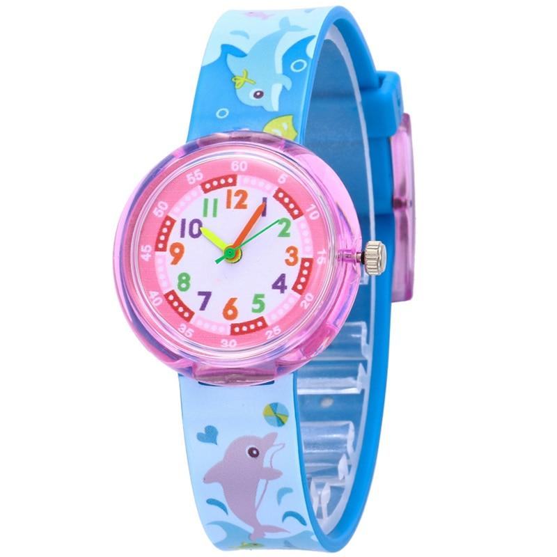 11 Designs Christmas Gift Cute Dolphin Girl Watch Children Fashion Watch SportS Jelly Cartoon New Boy Watch
