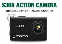 SOOCOO на S300 действие Камера 2,35 touch lcd Hi3559V100 + IMX377 4 К 30fps EIS Wi Fi 12MP CMOS дистанционного внешний mic Спорт cam