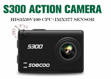 """SOOCOO S300 Action Camera 2.35 """"lcd touch EIS Hi3559V100 + IMX377 4 k 30fps Wi-fi 12MP CMOS remoto externo mic esporte cam"""