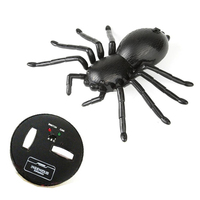 Novelty Emulational Remote Control Mini spider Animal Toy Funny toy For April Fool's Day Halloween Joke Scary Prank toy