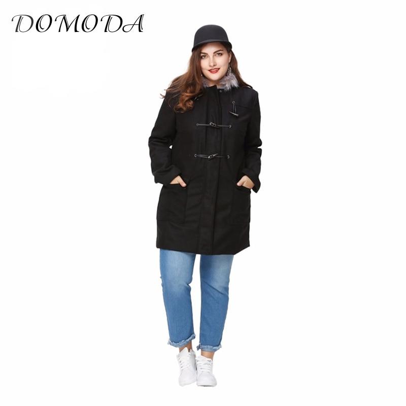 DOMODA Plus Size Women Clothing Basic Preppy Style Outwear ...