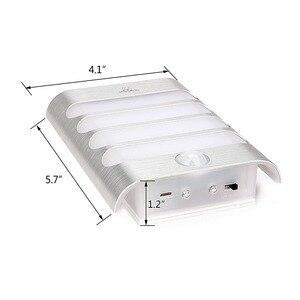 Image 4 - USB akumulator czujnik lampka nocna bezprzewodowy czujnik ruchu pir światło kinkiet lampa Auto On/Off dla korytarza ścieżka schody