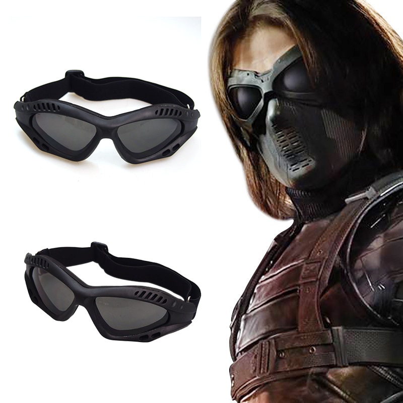 Captain America:The Winter Soldier Bucky Barnes Goggles Cosplay Eyes Mask Props Protection Motorcycle Riding Goggles Eyewear