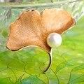 Belo Broche Simulado Pérola Jóias Placa de Ouro Flor Folha Broche Broche de Ouro Em Pó Fino Vestido Das Mulheres Do Partido Perla Pinos bts