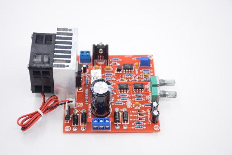 3in1 envío libre 0-30 V 2mA-3A ajustable DC regulado fuente de alimentación DIY Kit + radiador de aluminio disipador + ventilador de refrigeración