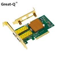 Большой Q 10 Гбит/с pci express gigabit ethernet оптоволоконной сети card Двойной порт LAN для Intel X520 82599ES