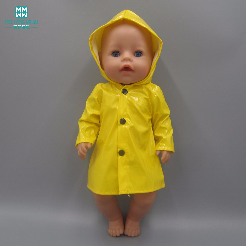 Clothes for dolls fits 43cm-45cm American girl and Baby Born Zapf doll Swimwear pajamas Yellow raincoat american girl doll clothes superman and spider man cosplay costume doll clothes for 18 inch dolls baby doll accessories d 3