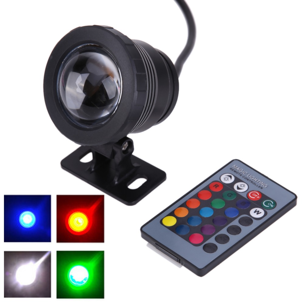 Focos led piscina light Lights16 color 10W12v LED flood light underwater RGB LED light waterproof IP65 outdoor lighting fountain