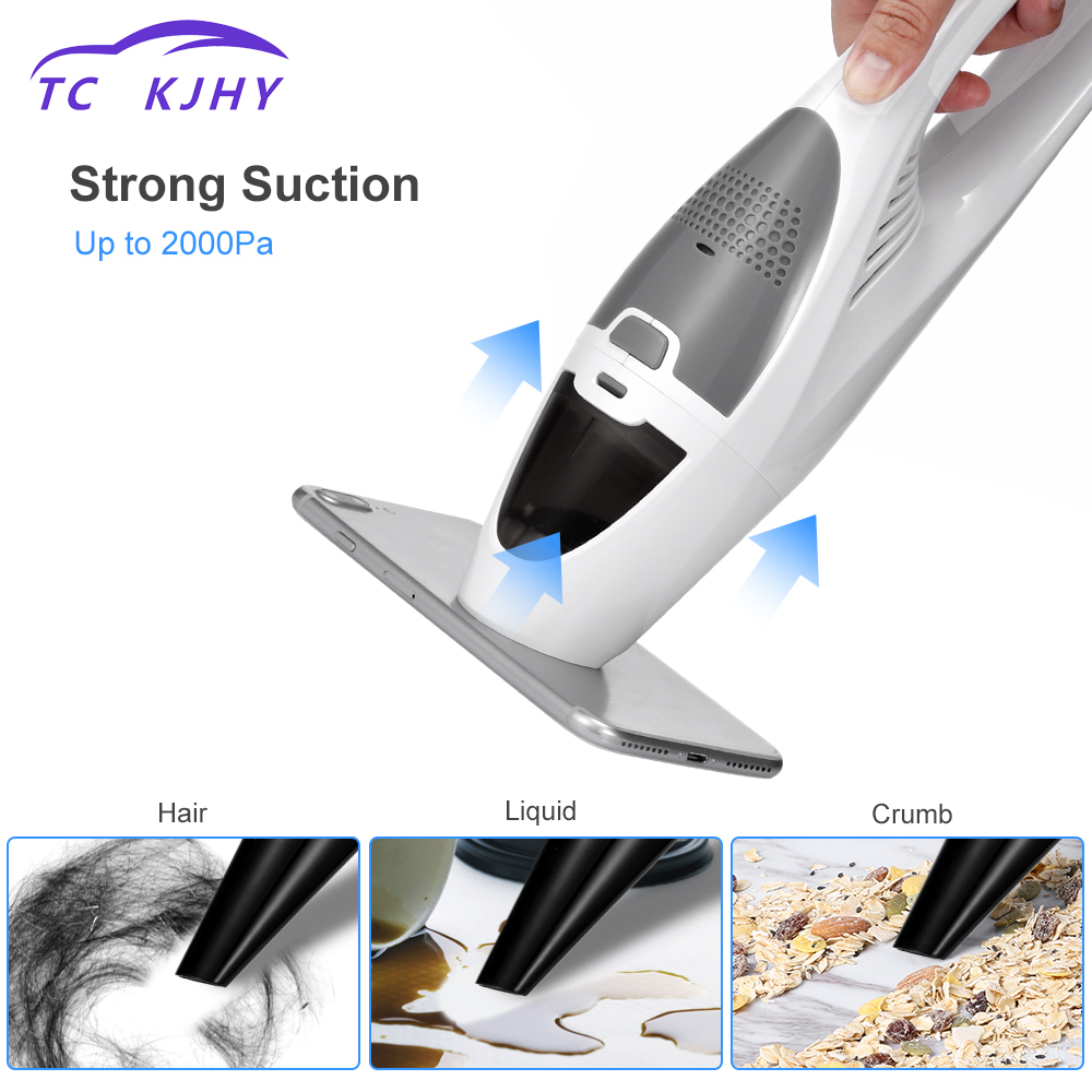 2018 Handheld Dust Cleaner Auto Portable USB Rechargeable Super Sunction Cordless Car Vacuum Cleaner Wet&Dry for Car Home Clean mini car vacuum cleaner rechargeable cordless portable vacuum cleaner for car home with usb cable