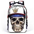 2017 Hip-Hop Backpack Skeleton Mochila 3D Skull Printing Bag Women Backpack Bag Rock Punk Bolsa School Bags for Teenagers