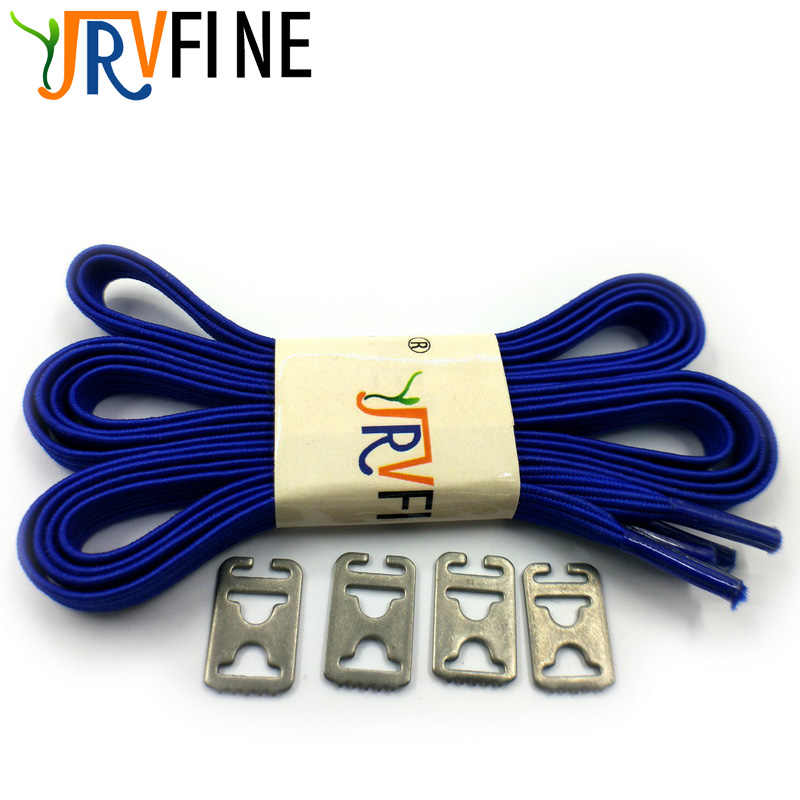 1 Pair Colorful Blue Adult Kids All Sneaker Lazy Shoelaces Men Women Children No Tie Elastic Flat Shoe Laces Strings Rope