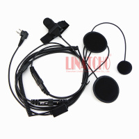 2 pin connector finger PTT GP68, GP88, GP88S motorcycle walkie talkie helmet headset mic