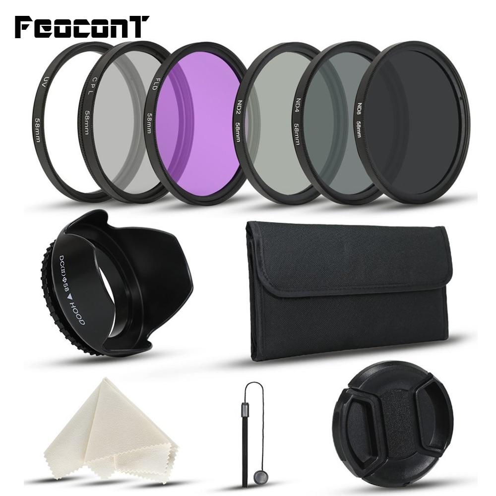 FeoconT กรอง ND2 ND4 ND8 UV CPL FLD 52 - กล้องและภาพถ่าย