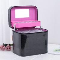 126 Bottle Case Beads Display Box Embroidery Handbag PU Diamond Storage Box Non Toxic Zipper Exquisite Storage Bags
