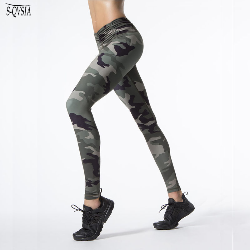 Ny Camouflage Print Kvinder Sporting Leggings High Elastic Workout - Dametøj - Foto 1