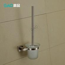 Держатель туалетной щетки, никелевое с эффектом обработки щеткой твердая латунь держатель чашки+ в форме чашки из матового стекла, аксессуары для ванной комнаты оптом