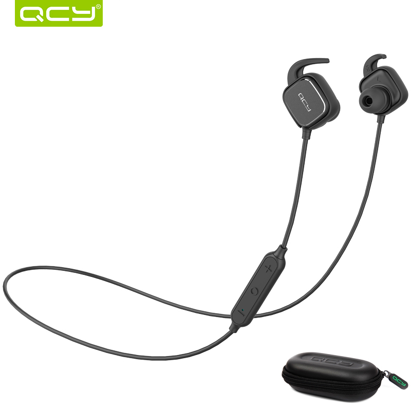 QCY QY12 Sports Bluetooth Earphone Magnet Switch Wireless Headset Music Earbuds with Mic And Portable Storage Box цена 2017