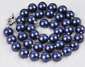 Discount!!DIY Charming!10mm South Dark Blue Shell Pearl Round Beads Necklace beads jewelry making AAA+++ about 43 pcs/strands