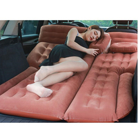 2019 Camping Car Bed 185*110CM Car Mattress Car Back Seat Cover Air Mattress Colchon Inflable Para Auto Travel Bed For SUV