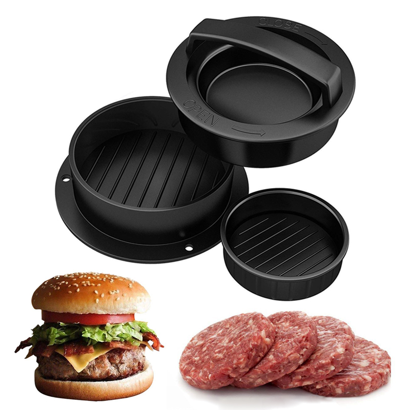 Kitchen Round Shape burger Press Food-Grade ABS Hamburger Meat Press Beef Grill Hamburger Press Patty Maker Mold Mould Tool