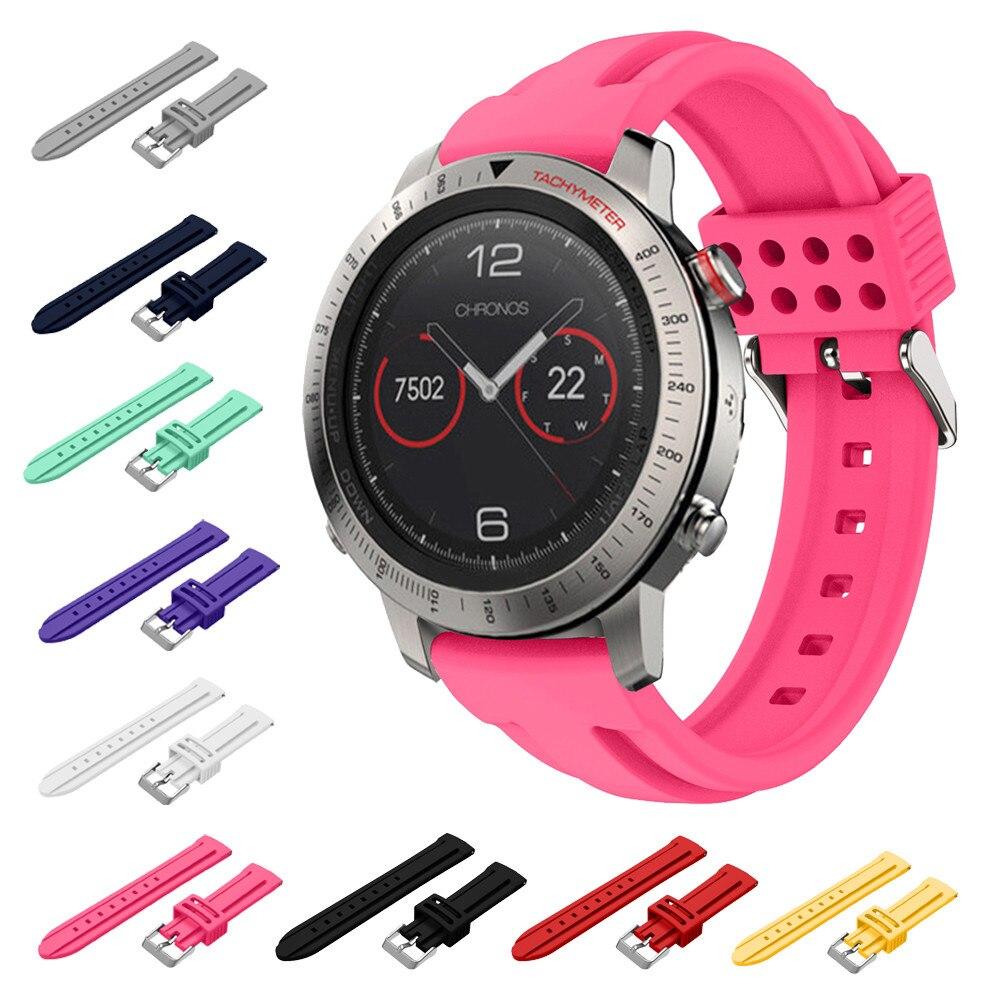22mm pakeitimas sportinis minkštas silikono diržo laikrodis Garmin Fenix chronos GPS laikrodžiui