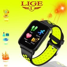 LIGE Full Touch Screen Smart Bracelet most fashionable  Heart Rate Monitor Watch Women Sport bracelet Man Fitness