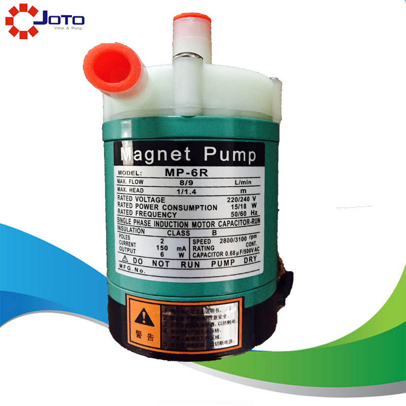 MP-6R Plastic Acid Resistance Magnetic Drive Water Pump Pure Water Production Electromagnetic Pump 220V 50HZ