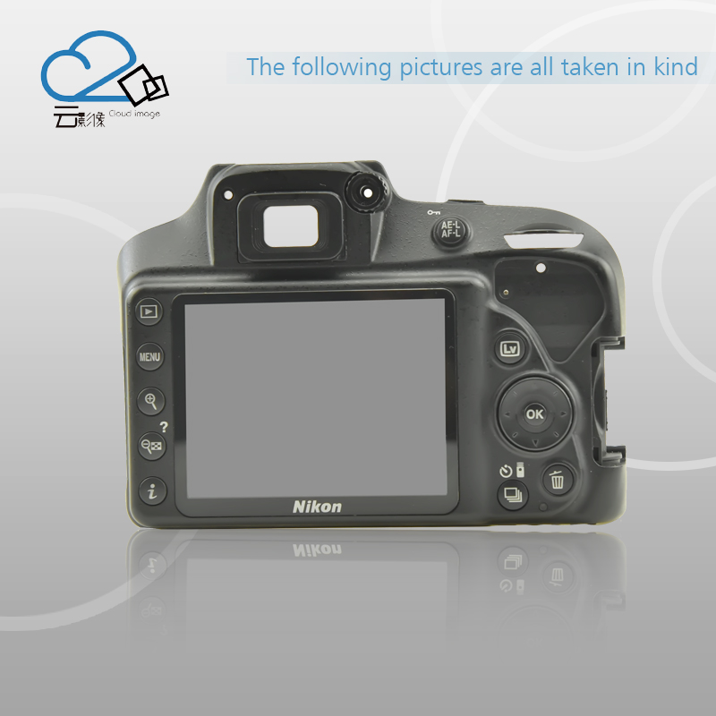 Test Ok!D3400 back cover with LCD and key button camera replacement parts for Nikon d7000 rear back cover shell with lcd button fpc for nikon d7000 for nikon